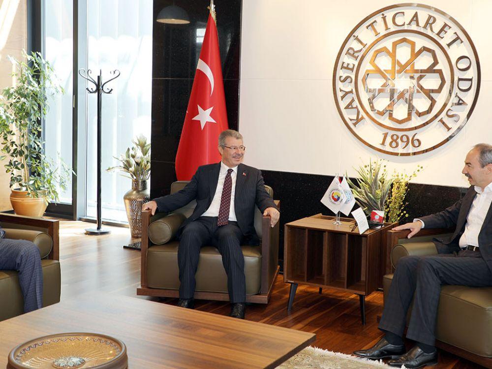 KAYSERİ ŞEKER'DEN KAYSERİ TİCARET ODASI'NA ZİYARET