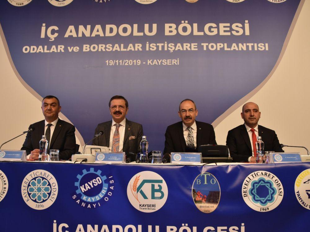 İÇ ANADOLU BÖLGESİ ODA/BORSA İSTİŞARE TOPLANTISI KTO'DA YAPILDI
